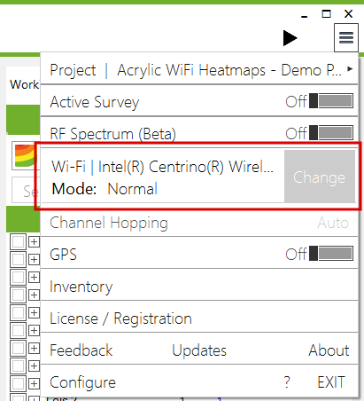 Wi-Fi interface configuration