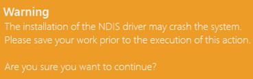 NDIS install error