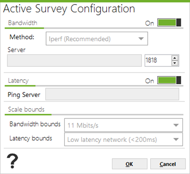 Active survey configuration