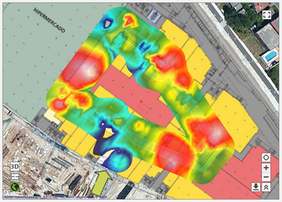 geopositioned wifi heat map