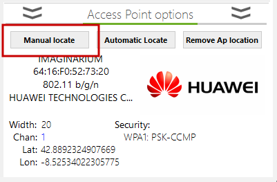 access point physical location option