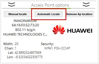 access point automatic physical location