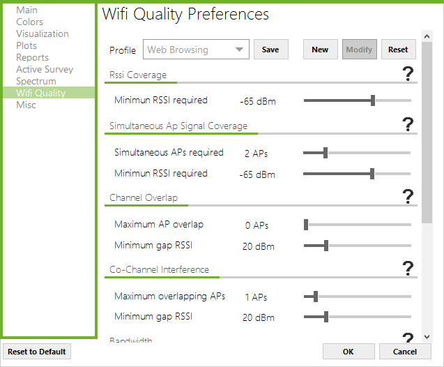Acrylic WiFi Heatmaps wifi quality configuration
