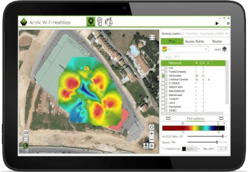Screenshot de Acrylic Wi-Fi Heatmaps