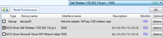driver WLAN NDIS WiFi interafaces