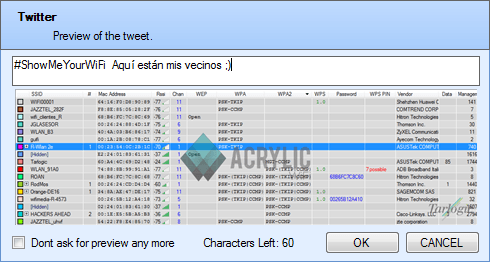 Acrylic WiFi WLAN software for Wi-Fi analysis under windows