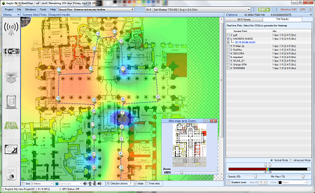 programas WiFi - Acrylic WiFi heatmaps for site survey