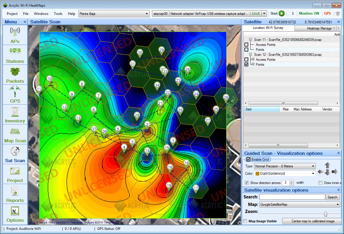 WiFi Map View WiFi Heat Maps With Acrylic Heatmaps V - Wifi map for windows