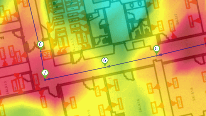 wlan heatmap – Wi-Fi Coverage Map with Acrylic Heatmaps