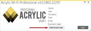 Installieren Sie die Lizenz für Acrylic WiFi