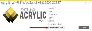 installer la licence d'acrylic wifi