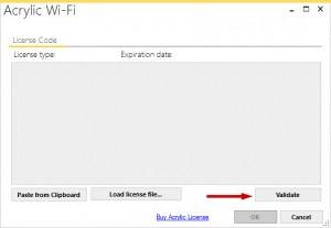 activer la licence Acrylic WiFi