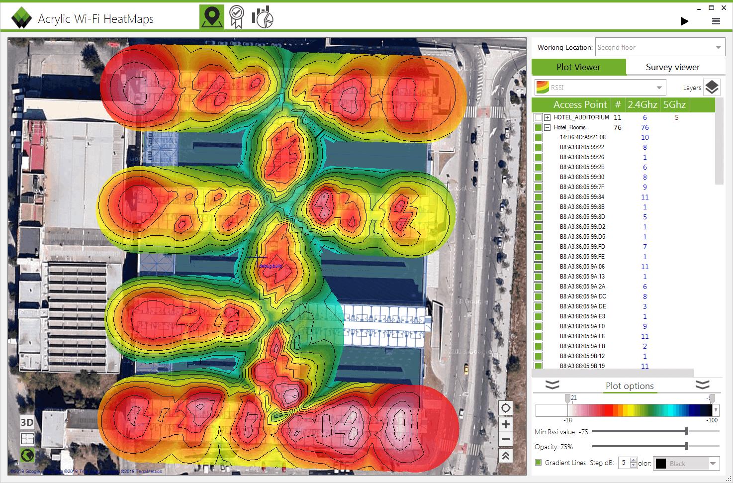 Introducing Acrylic WiFi Heatmaps v3: site survey software