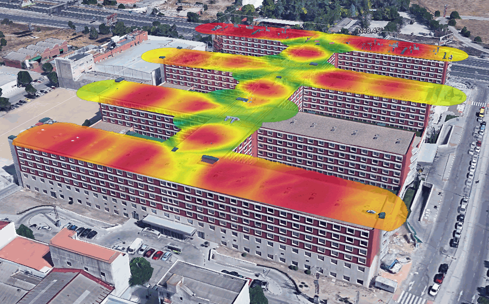 WiFi heat map intensity hotel
