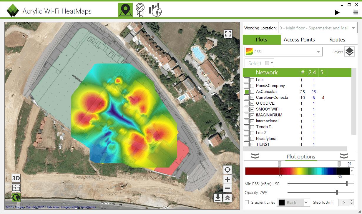 Free Trial WiFi Site Survey WiFi Heat Map Software AcrylicWifi - Wifi map software