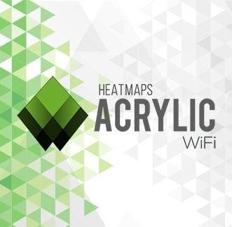 Acrylic Wi-Fi Heatmaps Logo Background