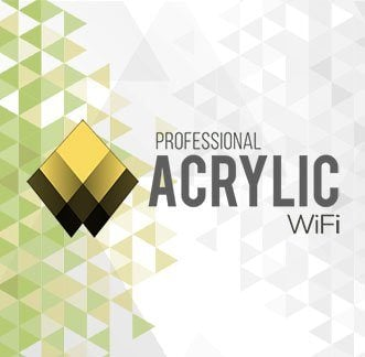 Acrylic Wi-Fi Professional Logo Background