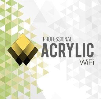 Acrylic Wi-Fi Professional Logo Background