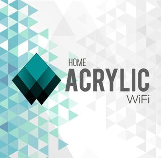 Acrylic Wi-Fi Home Logo Background