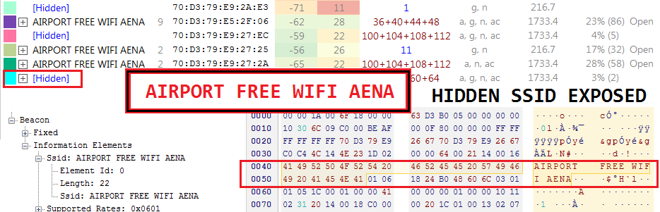 Hidden ssid exposed