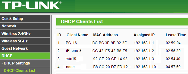 wifi router clients
