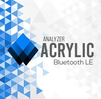 Acrylic Bluetooth LE Scanner Logo Background