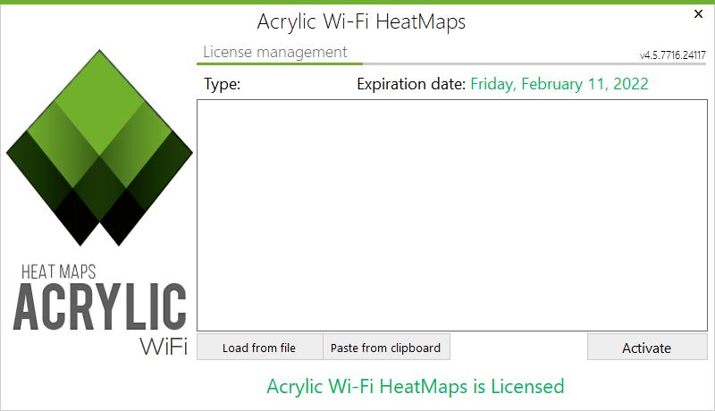 Acrylic Wi-Fi Heatmaps Licensing window